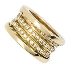Signature Bulgari Diamond Set B.zero1 Dress Ring