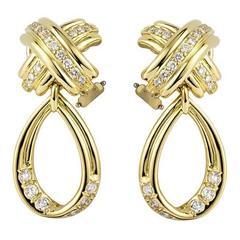 Elegant Tiffany & Co. Schlumberger Drop Earrings