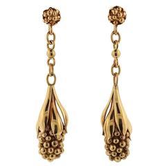 Georg Jensen Gold Drop Earrings