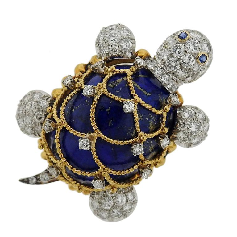 pin tone silver cz hsh inspired bling blue sapphire deco gatsby great color brooch art jewelry