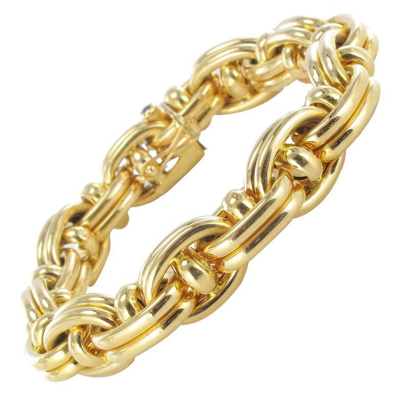1970s French Caplain Bijoux Yellow Gold Anchor Chain