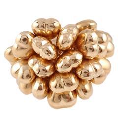Italian 22 karat gold  heart ring