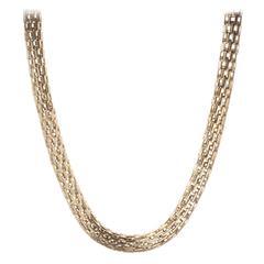 Vaid Woven 18 Karat Gold Choker Necklace