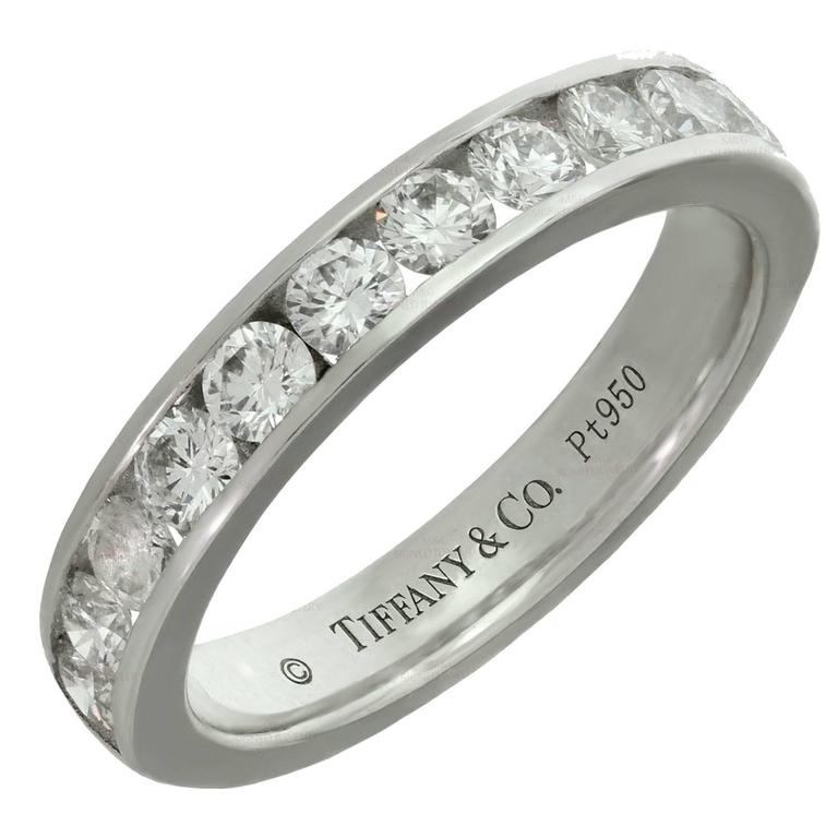 Wedding Ring On Sale.Tiffany Co Diamond Platinum Wedding Band Ring
