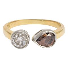 1.74 Carat Diamond platinum Toi Et Moi Engagement Ring