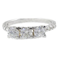 Diamonds Gold Three-Stone Ring