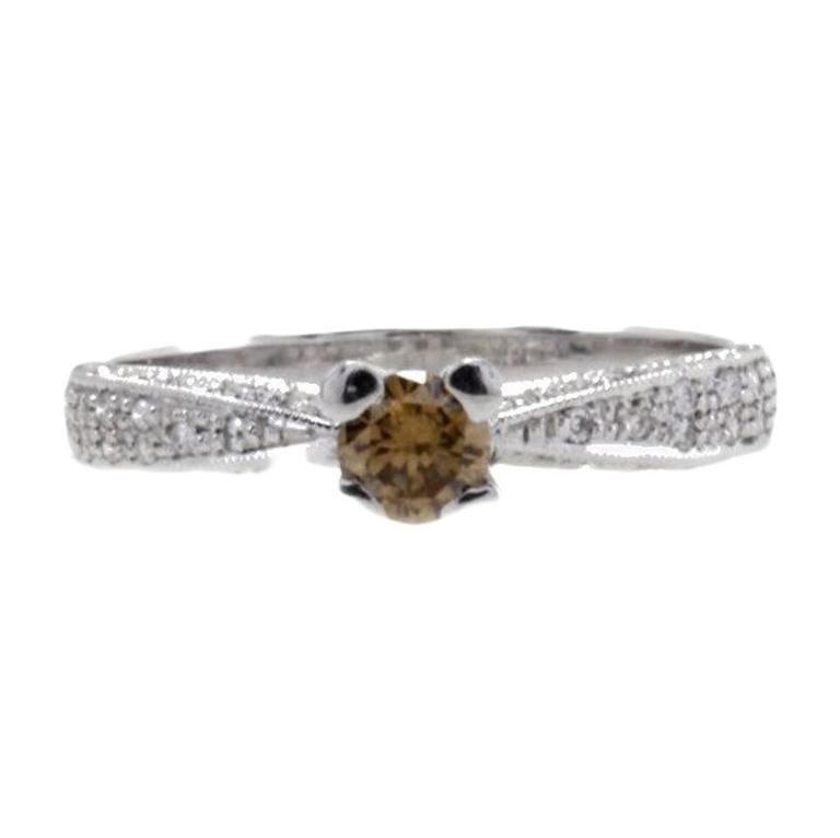 Diamonds Solitaire Gold Ring