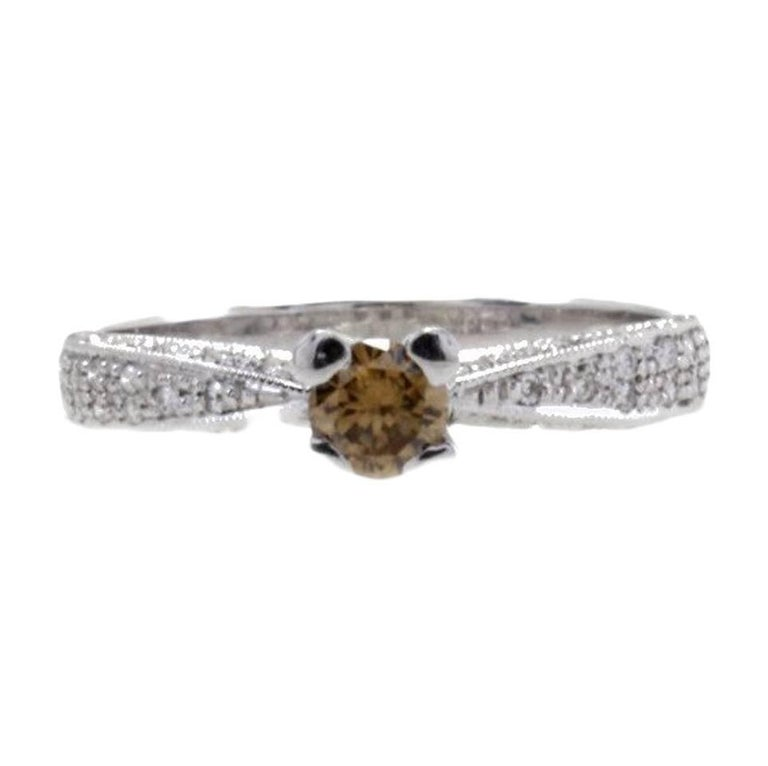 Diamonds Solitaire Gold Ring For Sale
