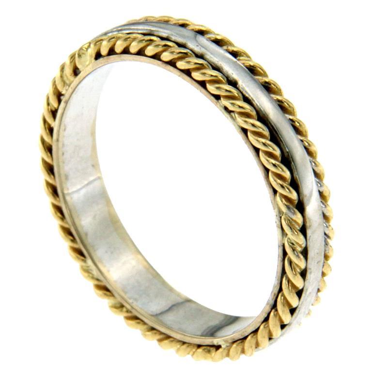 Rope Design Bands: Rope Design Gold Band Ring At 1stdibs