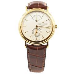 Vacheron Constantin Rose Gold Les Historiques Power Reserve Automatic Wristwatch