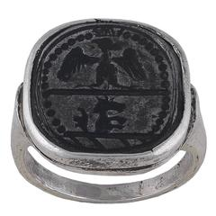 Antique Medieval Late 15th Century German Knight Signet Ring