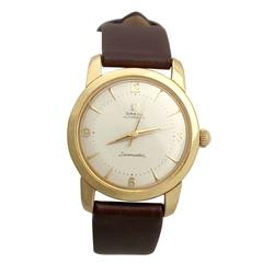 Omega Yellow Gold Seamaster Automatic Wristwatch, 1950s