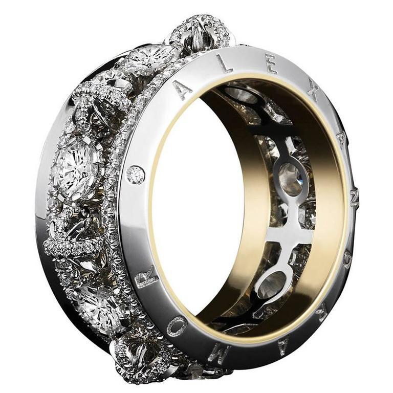 Alexandra Mor Platinum and Diamond Eternity Band