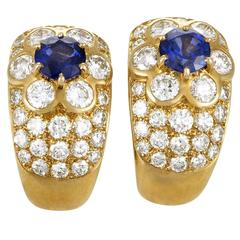 Van Cleef & Arpels Fleurette Diamond Gold Clip-on Earrings