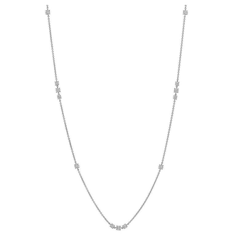 A. Link & Co. Diamond Gold Long Chain Necklace