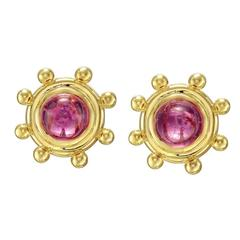 Tiffany & Co. Paloma Picasso Pink Tourmaline Gold Earrings