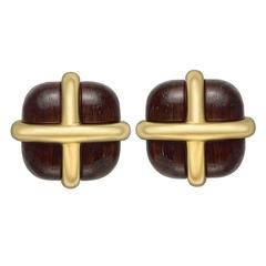 Seaman Schepps Rosewood Yellow Gold Crossover Earclips