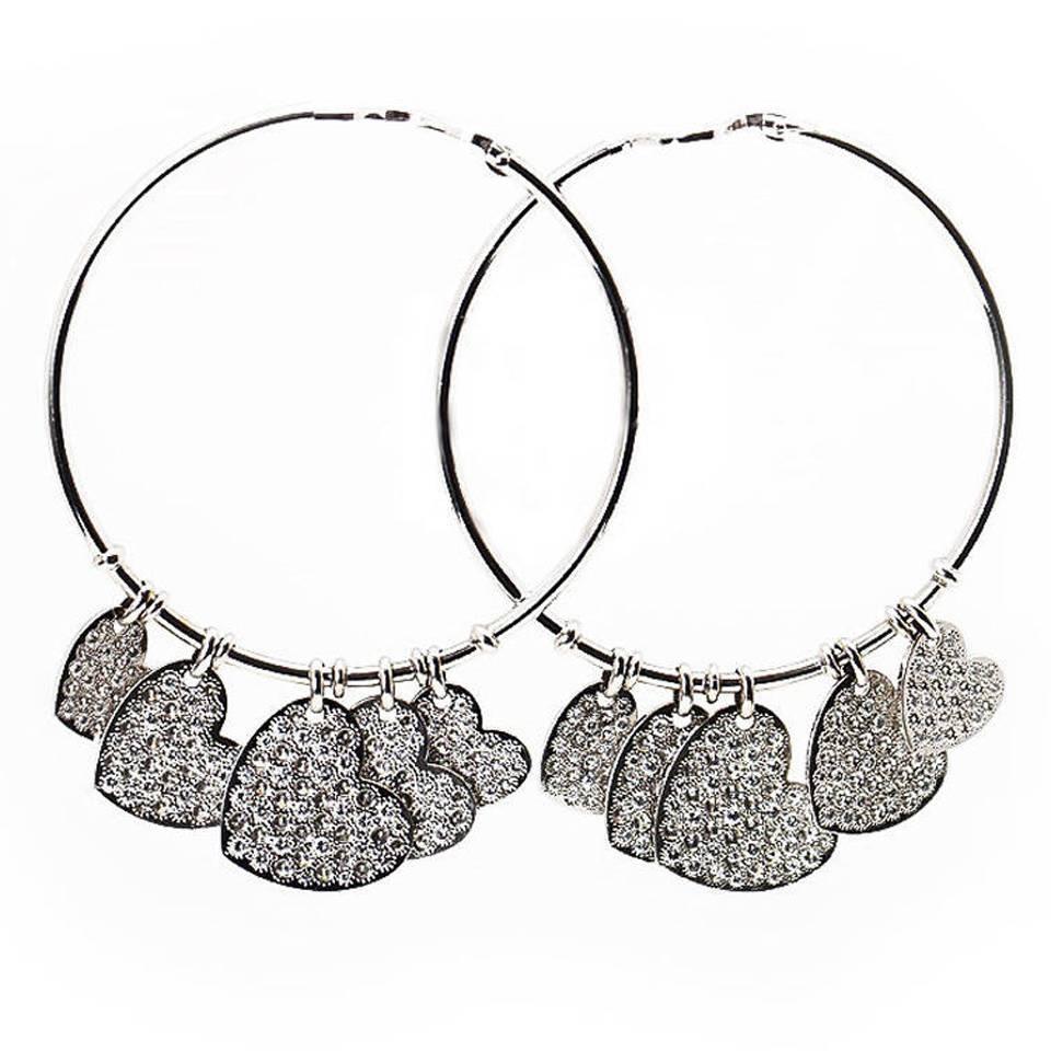 Diamond heart earrings - Diamond Heart Earrings 40