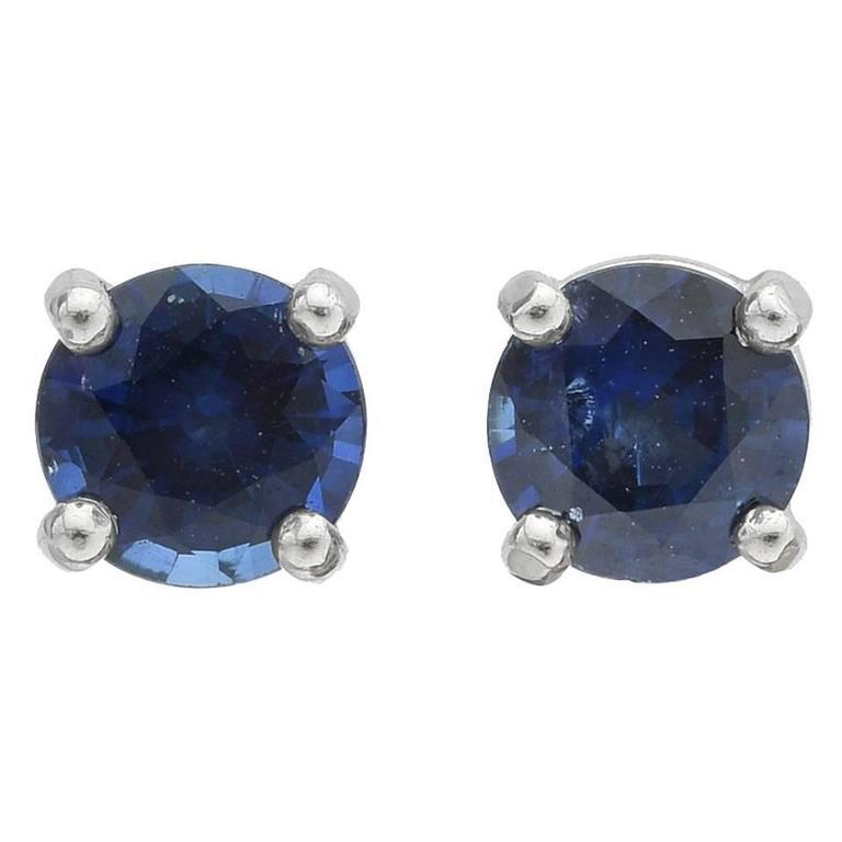 Sapphire Stud Earrings 1