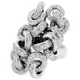 De Grisogono Diamond Cocktail White Gold Ring