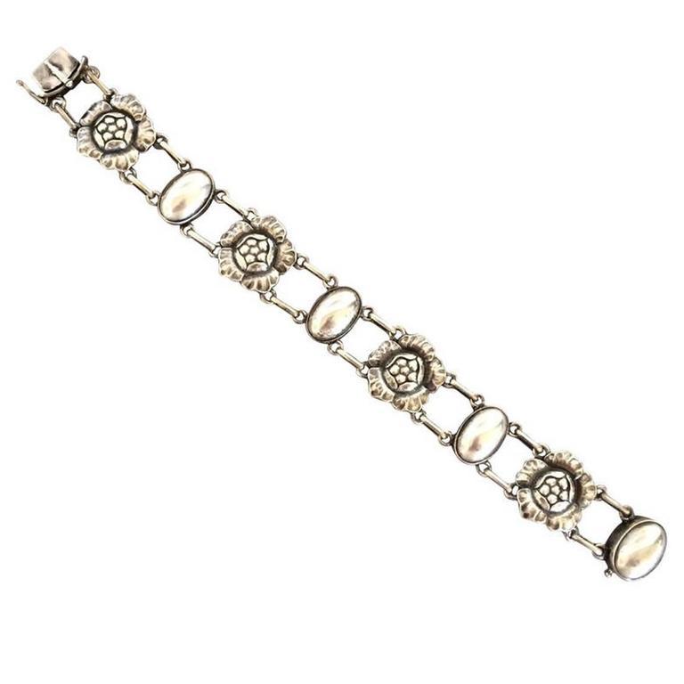 Georg Jensen Sterling Silver Blossom Bracelet No. 12