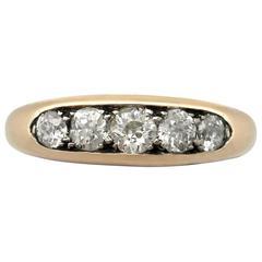 1940s 0.80 Carat Diamond and 18 k Yellow Gold Ring