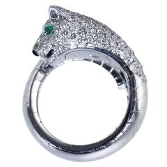 Cartier Diamond Emerald  Onyx 'Panthère' Ring