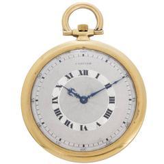Cartier yellow gold case Art Deco Manual winding Pocket Wristwatch