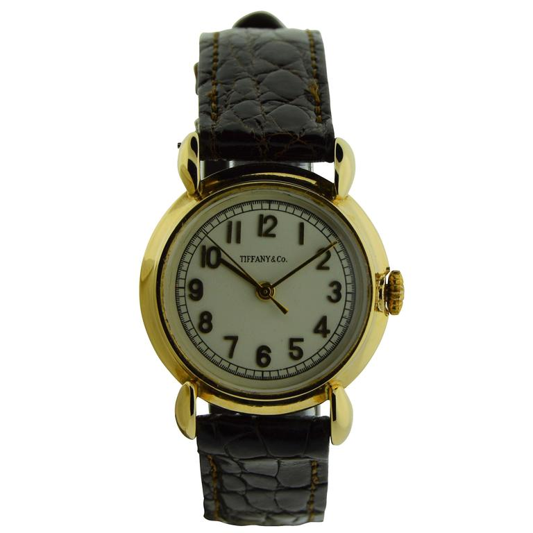 Tiffany & Co. by Schaffhausen International Watch Company Art Deco Gold Watch