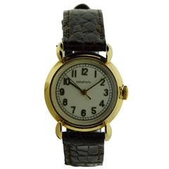 Schaffhausen International Watch Company Art Deco Gold Wristwatch