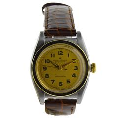 Rolex Watch Company Yellow Gold Stainless Steel Bubble Back Wristwatch