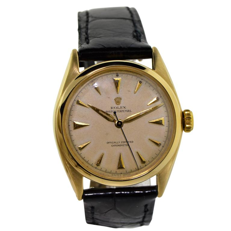 Rolex Yellow Gold Oyster Perpetual Watch Ref 6084, circa 1952