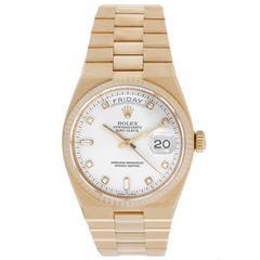 Rolex Oysterquartz President Day-Date Gold Quartz Wristwatch 19018