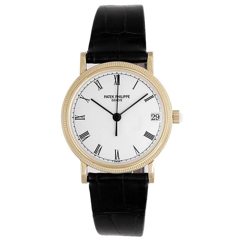 Patek Philippe White dial Calatrava Automatic Wristwatch 1