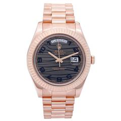 Rolex Rose Gold President Day-Date II Automatic Wristwatch 218235