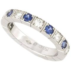 Cartier Diamond and Sapphire Lanieres Ring