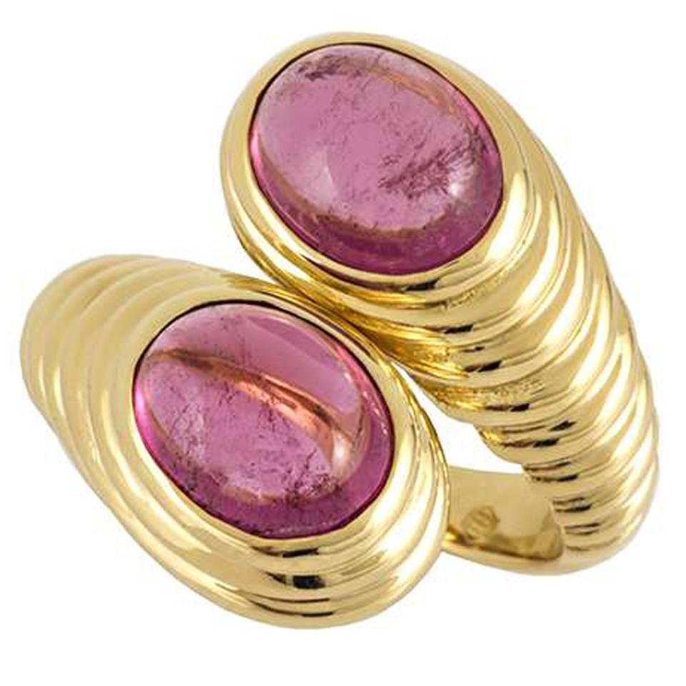 Bulgari Contemporary Amethyst 18 Karat Gold Ring at 1stdibs