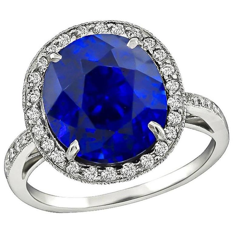 Amazing 5.50 Carat Sapphire Diamond Ring