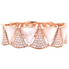 Bulgari Diamond  Rose Gold Diva Bracelet