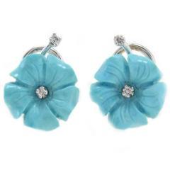 Daisy Turquoise Diamond Earrings