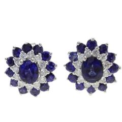 Luise Diamond & Blue Sapphire Earrings