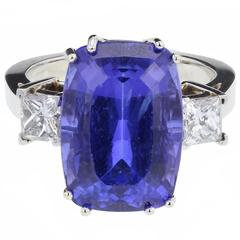 A Fine Tanzanite Diamond  Ring