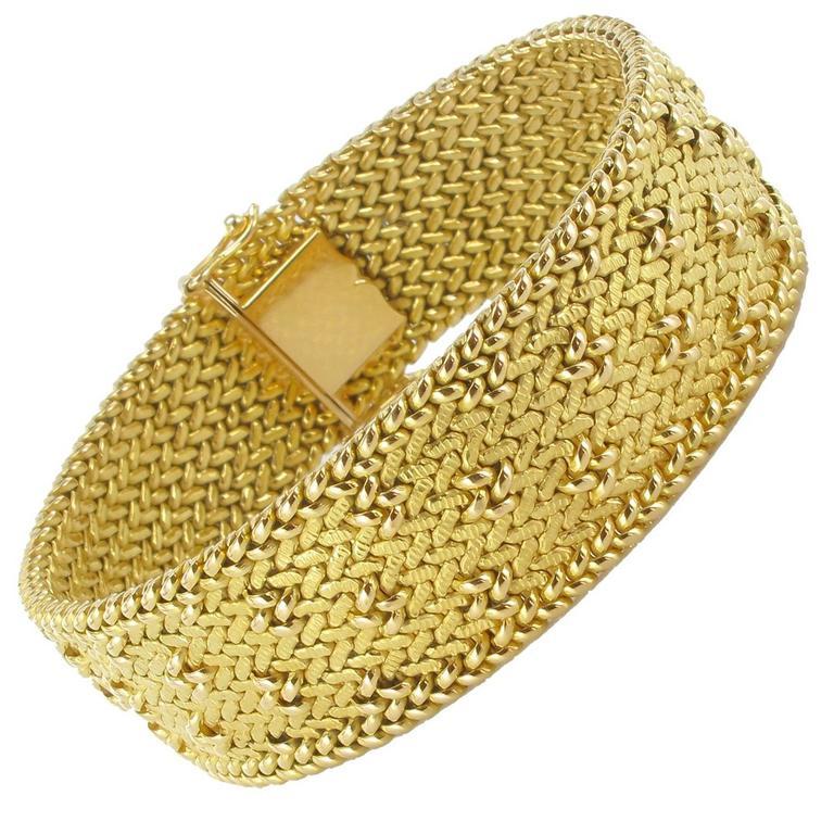 Frenc 1960s Retro Gold Link Bracelet