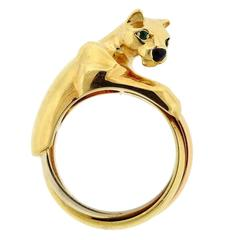 Cartier Panthere Gold Onyx Emerald Ring