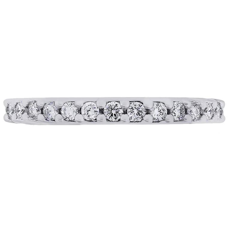 Flexible Diamond Eternity White Gold Wedding Band For Sale At 1stdibs