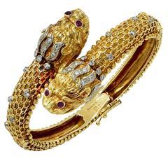 Ilias Lalounis Greek Diamond Bangl