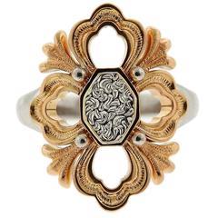 Buccellati Rose White Gold Opera Ring