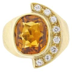 Burle Marx Citrine and Diamond Ring