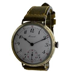Howard White Gold Filled Oversized Wristwatch