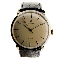 Omega Stainless Steel Oversized Wristwatch c1950s